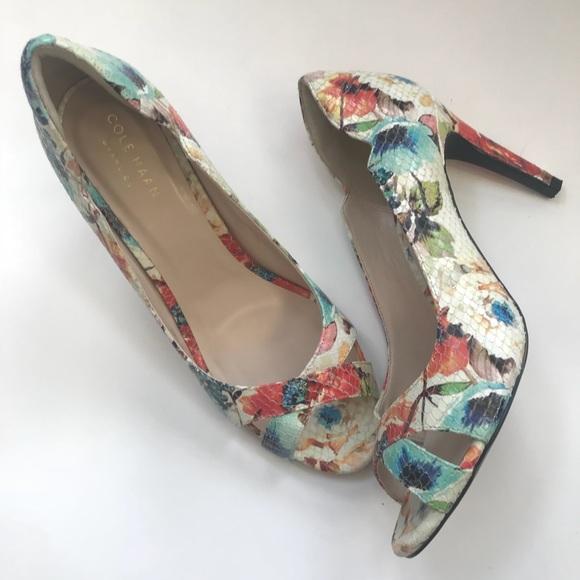 e2c69cc72db9 Cole Haan Shoes - Cole Haan GD Jacinda open toe floral print heels